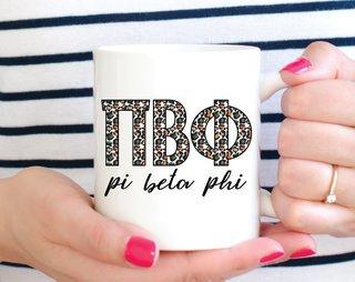 Pi Beta Phi Leopard Mug