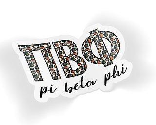 Pi Beta Phi Leopard Sticker