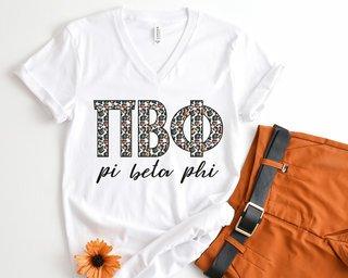 Pi Beta Phi Leopard V-Neck Tee
