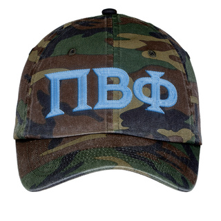 Pi Beta Phi Lettered Camouflage Hat