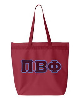 DISCOUNT-Pi Beta Phi Lettered Game Day Tote