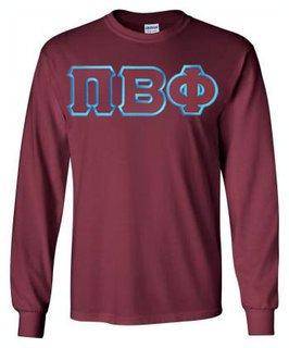 Pi Beta Phi Lettered Long Sleeve Shirt
