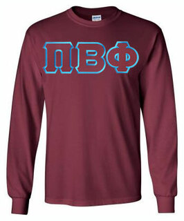 Pi Beta Phi Lettered Long Sleeve Tee- MADE FAST!