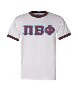 DISCOUNT-Pi Beta Phi Lettered Ringer Shirt
