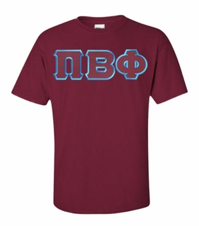 Pi Beta Phi Lettered T-shirt - MADE FAST!