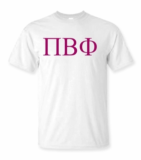 Pi Beta Phi Lettered Tee - $9.95! - MADE FAST!