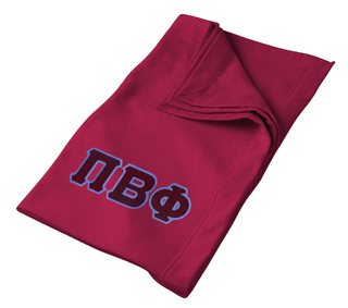 DISCOUNT-Pi Beta Phi Lettered Twill Sweatshirt Blanket
