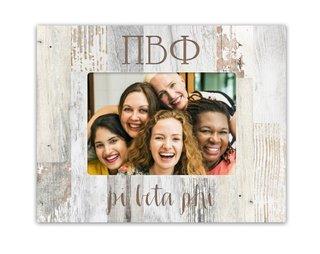 Pi Beta Phi Letters Barnwood Picture Frame