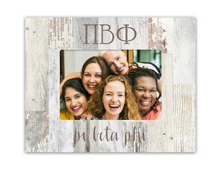 Pi Beta Phi Letters Barnwood Picture Frame