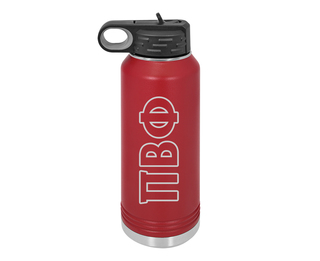 Pi Beta Phi Letters Stainless Water Bottle
