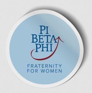 Pi Beta Phi Logo Round Decal