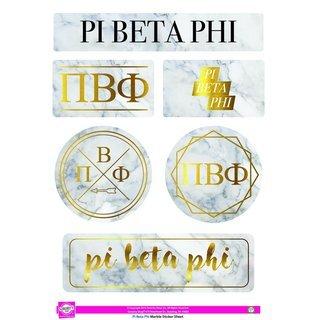 Pi Beta Phi Marble Sticker Sheet
