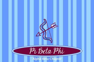 Pi Beta Phi Mascot Tablecloth