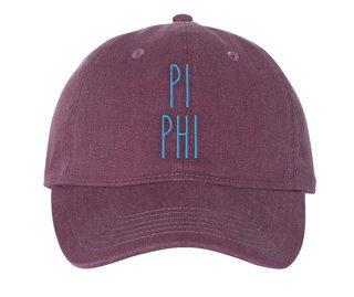 Pi Beta Phi Mod Comfort Colors Pigment Dyed Baseball Cap
