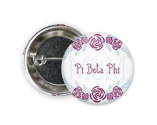 Pi Beta Phi Mom Floral Button