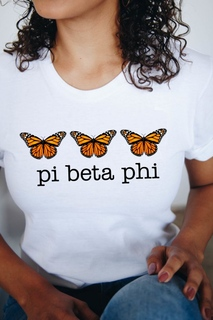 Pi Beta Phi Monarch Butterfly Short Sleeve T-Shirt - Comfort Colors