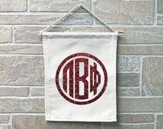 Pi Beta Phi Monogram Banner