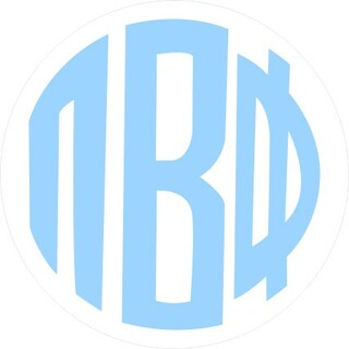Pi Beta Phi Monogram Decal