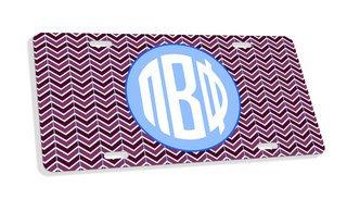Pi Beta Phi Monogram License Plate