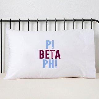 Pi Beta Phi Name Stack Pillow Cover