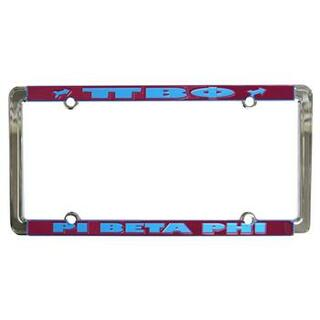 Pi Beta Phi New Design License Plate Frame