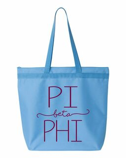 Pi Beta Phi New Handwriting Tote Bag