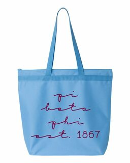 Pi Beta Phi New Script Established Tote Bag