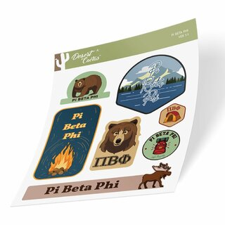 Pi Beta Phi Outdoor Sticker Sheet
