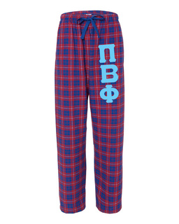 Pi Beta Phi Pajamas -  Flannel Plaid Pant