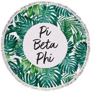 Pi Beta Phi Palm Leaf Fringe Towel Blanket