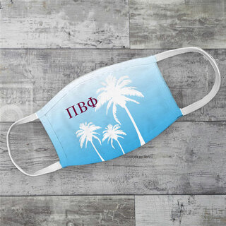 Pi Beta Phi Palm Trees Face Mask