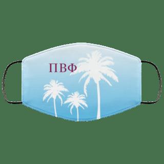 Pi Beta Phi Palm Trees Face Mask