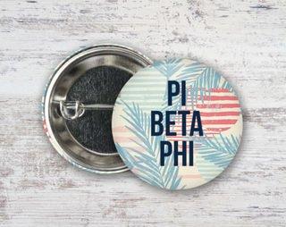 Pi Beta Phi Paradise Found Button