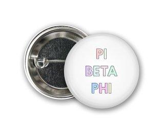 Pi Beta Phi Pastel Letter Button