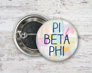 Pi Beta Phi Pastel Strokes Button