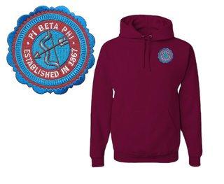 Pi Beta Phi Patch Seal Hooded Sweatshirt