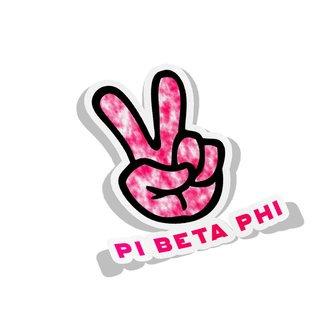 Pi Beta Phi Peace Hands Decal Sticker