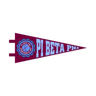 """Pi Beta Phi Pennant Decal 4"""" Wide"""