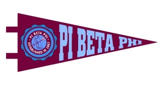 Pi Beta Phi Pennant Decal Sticker