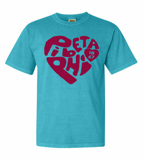 Pi Beta Phi Piece of My Heart Sorority Comfort Colors T-Shirt