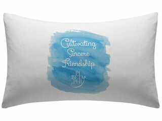 Pi Beta Phi Motto Watercolor Pillowcase