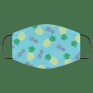Pi Beta Phi Pineapples Face Mask