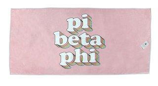 Pi Beta Phi Plush Retro Beach Towel