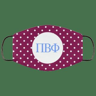 Pi Beta Phi Polka Dots Face Mask