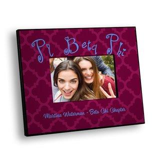 Pi Beta Phi Quatrefoil Picture Frame