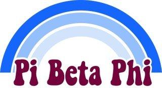 Pi Beta Phi Rainbow Decals