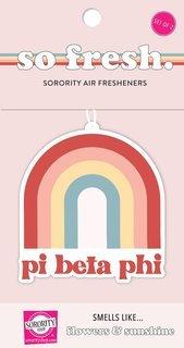 Pi Beta Phi Rainbow Retro Air Freshener - Flowers & Sunshine Scent