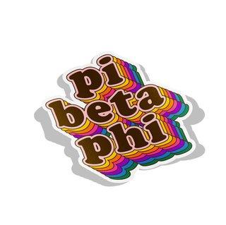 Pi Beta Phi Retro Maya Decal Sticker