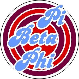 Pi Beta Phi Retro Round Decals