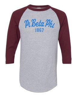 Pi Beta Phi Script Established Raglan